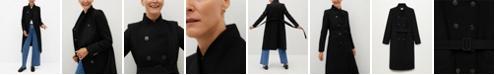 MANGO Women's Wool Double-Breasted Coat