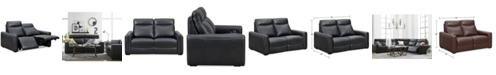 Furniture Closeout Marzia 60 Quot Leather Loveseat With 2