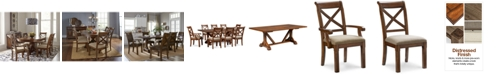 Furniture Closeout! Mandara Rectangle Furniture, 9-Pc. Set (Dining Trestle Table, 6 X-Back Side Chairs & 2 X-Back Arm Chairs)