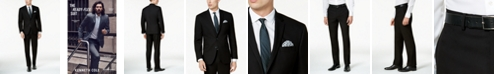 Kenneth Cole Reaction Men's Ready Flex Solid Black Slim-Fit Suit