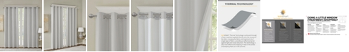 "SunSmart Emmer 50"" x 84"" Solid Jacquard Room Darkening Window Panel"