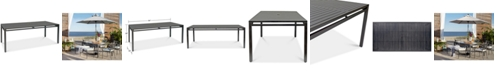 """Furniture Montclaire Aluminum 84"""" x 42"""" Outdoor Dining Table, Created for Macy's"""