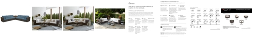 Furniture Viewport Outdoor 7-Pc. Modular Seating Set (2 Corner Units, 4 Armless Units and 1 Corner Table), with Custom Sunbrella® Cushions, Created for Macy's