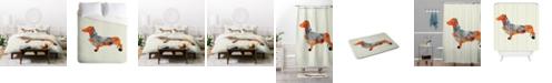 Deny Designs Iveta Abolina Wiener Dog Queen Duvet Set