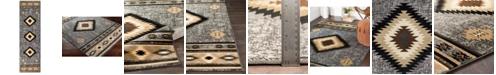 "Surya Paramount PAR-1094 Charcoal 2'2"" x 7'6"" Runner Area Rug"
