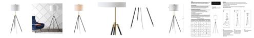 JONATHAN Y Lucius Adjustable Metal Led Floor Lamp
