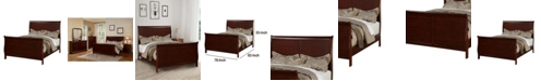 Benzara Clean and Convenient Eastern King Wooden Bed