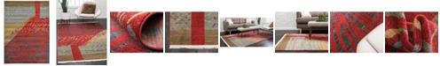 Bridgeport Home Ojas Oja1 Red 7' x 10' Area Rug