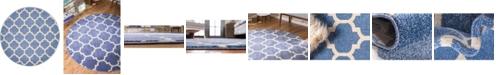 """Bridgeport Home Arbor Arb1 Light Blue 3' 3"""" x 3' 3"""" Round Area Rug"""