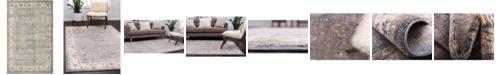 """Bayshore Home Bridgeport Home Bellmere Bel5 Gray 3' 3"""" x 5' 3"""" Area Rug"""