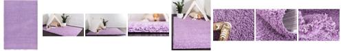 Bridgeport Home Exact Shag Exs1 Lilac 6' x 9' Area Rug