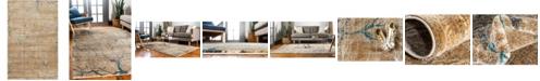 Bridgeport Home Aroa Aro1 Light Brown 5' x 8' Area Rug