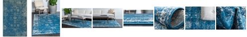 Bridgeport Home Basha Bas1 Blue 4' x 6' Area Rug