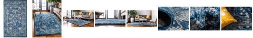 Bridgeport Home Masha Mas3 Navy Blue 5' x 8' Area Rug