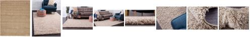 Bridgeport Home Exact Shag Exs1 Taupe 8' x 10' Area Rug