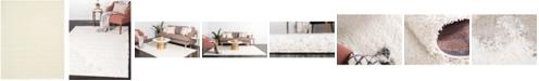 Bridgeport Home Exact Shag Exs1 Snow White 8' x 10' Area Rug
