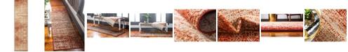"Bridgeport Home Jasia Jas08 Terracotta 2' 6"" x 10' Runner Area Rug"