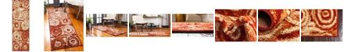 Bridgeport Home Jasia Jas02 Terracotta 2' x 6' Runner Area Rug