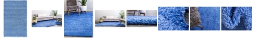 "Bridgeport Home Exact Shag Exs1 Periwinkle Blue 3' 3"" x 5' 3"" Area Rug"