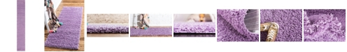 "Bridgeport Home Exact Shag Exs1 Lilac 2' 6"" x 16' 5"" Runner Area Rug"