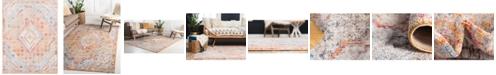 Bridgeport Home Zilla Zil1 Orange 9' x 12' Area Rug