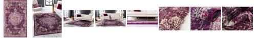 """Bridgeport Home Lorem Lor1 Purple 3' 3"""" x 5' 3"""" Area Rug"""