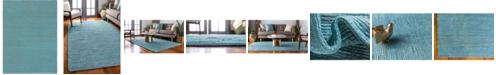 Bridgeport Home Prisma Jute Prs1 Turquoise 9' x 12' Area Rug