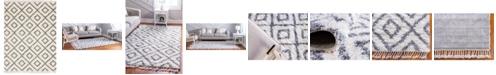 Bridgeport Home Lochcort Shag Loc2 Ivory 9' x 12' Area Rug