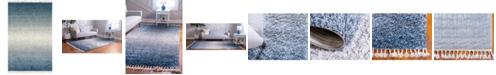 Bridgeport Home Lochcort Shag Loc5 Blue 4' x 6' Area Rug