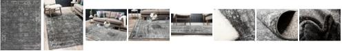 Bridgeport Home Basha Bas1 Dark Gray 8' x 10' Area Rug