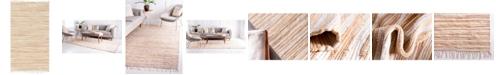 Bridgeport Home Jari Striped Jar1 Tan 5' x 8' Area Rug