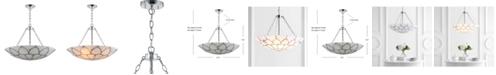 "JONATHAN Y Bailey 23.5"" Adjustable Marble/Metal LED Pendant"