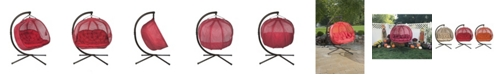Flowerhouse Hanging Pumpkin Patio Loveseat with Stand