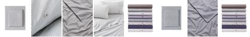 Lacoste Pinstripes Grey Full Sheet Set
