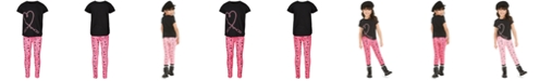 Ideology Little Girls 2-Pc. Heart T-Shirt & Printed Leggings Set, Created For Macy's