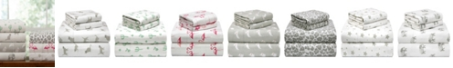 Pointehaven Printed Flannel Sheet Sets