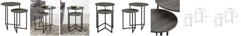 Walker Edison 2 Piece V-Leg Nesting Side Tables