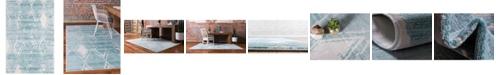 Jill Zarin Carnegie Hill Uptown Jzu006 Turquoise 4' x 6' Area Rug