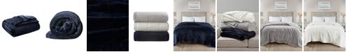 Madison Park Coleman Reversible Plush Down Alternative Blanket, Twin/Twin XL