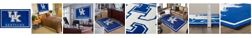 """Luxury Sports Rugs Kentucky Colky Blue 3'2"""" x 5'1"""" Area Rug"""