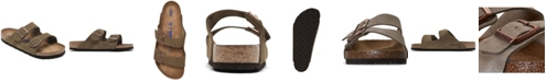 Birkenstock Men's Arizona Suede Leather Soft Footbed Casual Sandals from Finish Line