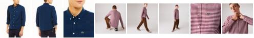 Lacoste Men's Regular-Fit Checkered Oxford Cotton Shirt