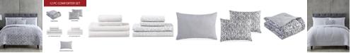 Hallmart Collectibles Maxson 12-Pc. Reversible California King Comforter Set