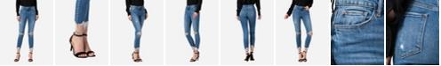 VERVET Women's High Rise Distressed Skinny Crop Jeans