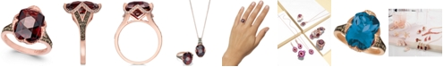 Le Vian Chocolatier® Pomegranate Garnet™ (6-9/10 ct. t.w.) and Diamond (3/8 ct. t.w.) Ring in 14k Rose Gold(Also Available In London Blue Topaz)