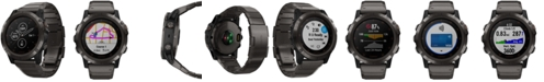 Garmin Unisex fenix® 5x Plus Gray Silicone Strap Smart Watch 51mm