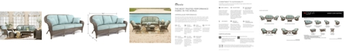 Furniture Sandy Cove Wicker Outdoor Sofa, with Sunbrella® Cushion, Created for Macy's