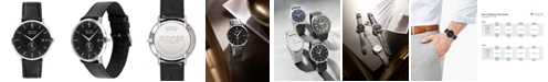 Movado LIMITED EDITION  Men's Swiss Heritage Series Calendoplan Black Leather Strap Watch 40mm, Created for Macy's - A Limited Edition
