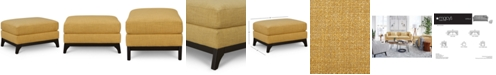 "Furniture Cistella 35"" Fabric Ottoman, Created for Macy's"