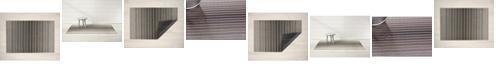 "Chilewich Block Stripe Shag Big Mat - 36"" x 60"""